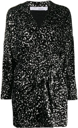 IRO Mielan leopard-print dress