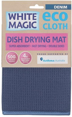 White Magic Eco Cloth Dish Drying Mat Denim Blue