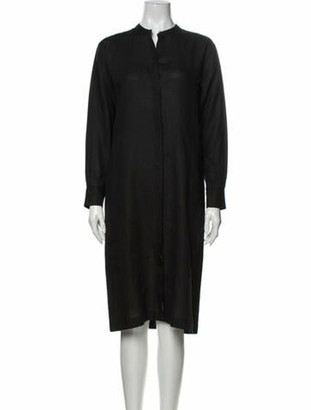 Hermes Vintage Midi Length Dress Black