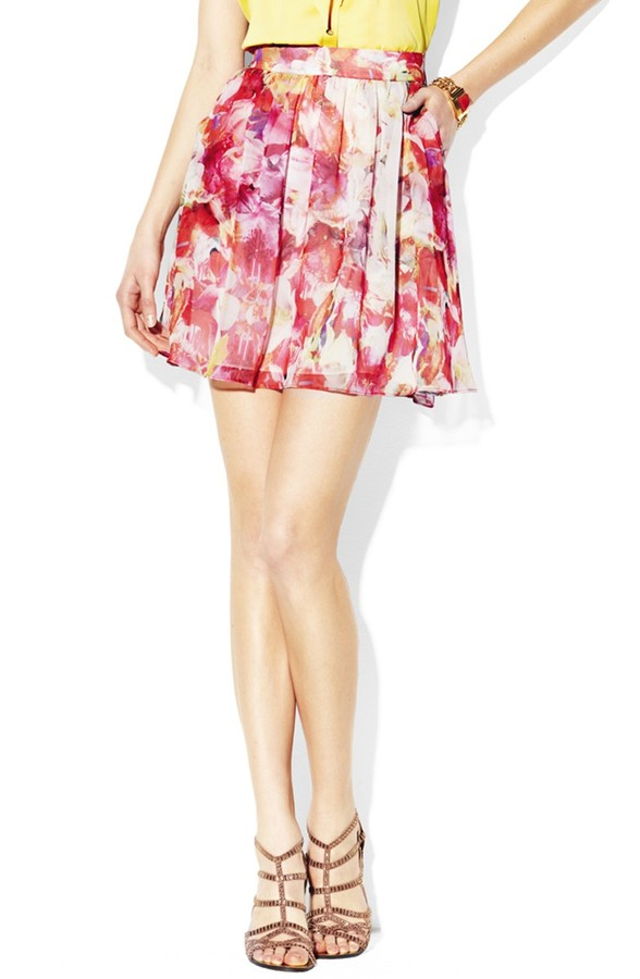 Vince Camuto Corsage Floral Skirt