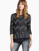 Lucky Brand Chevron Shine Sweater