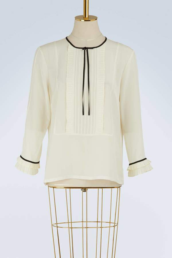 Marc Jacobs Silk blouse with ruffles