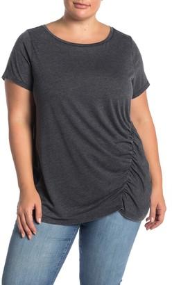 Susina Burnout Ruched T-Shirt (Plus Size)