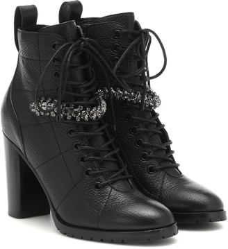 Jimmy Choo Cruz 95 leather ankle boots