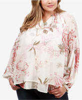 Lucky Brand Trendy Plus Size Layered Peasant Blouse