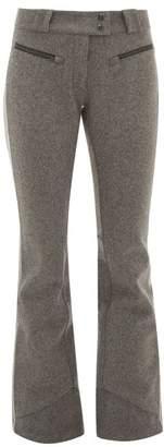 Capranea - Jet Flannel Flared Ski Trousers - Womens - Grey