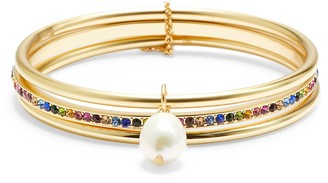 Sole Society Pearl Play 3-Pack Pearl & Crystal Bangles