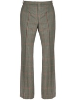 Nina Ricci Prince of Wales-checked mid-rise trousers