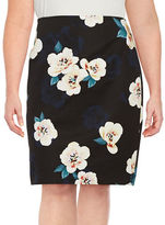 Lord & Taylor Plus Floral Pencil Skirt