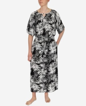 Sesoire Printed Tie Waist Nightgown