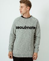 A Question Of Seoulmate Raglan Sweatshirt Grey Melange