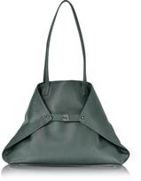 Akris Bottle Green Cervocalf Ai Medium Shoulder Bag