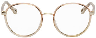 Chloé Pink Injected Rim Round Glasses