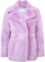 Alberta Ferretti wide lapel fur coat - women - Rabbit Fur/Acetate/Cupro - 38