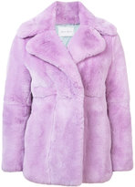 Alberta Ferretti wide lapel fur coat