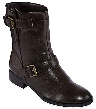 JCPenney Liz & Co.® Roxy Buckle Motorcycle Boots