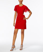 MSK Petite Ruched A-Line Dress