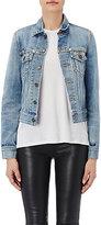 Saint Laurent Women's Appliquéd Denim Jacket-LIGHT BLUE