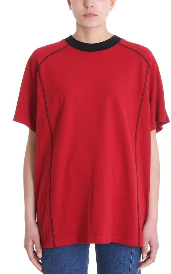 Y/Project Double Red Cotton T-shirt
