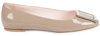 Roger Vivier Tres Vivier Leather Ballet Flats