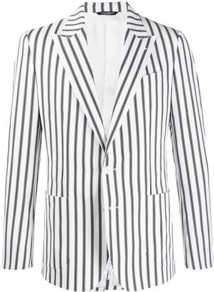 Dolce & Gabbana Single-Breasted Striped Blazer