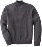 Croft and barrow solid mockneck sweater - big and tall