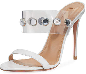 Aquazzura Galaxy Embellished Slide Sandal