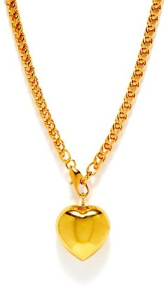 Timeless Pearly 24kt Gold-plated Heart Necklace - Gold