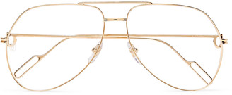 Cartier Eyewear Aviator-Style Gold-Tone Optical Glasses