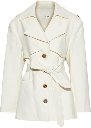 KHAITE Billy Belted Cotton-gabardine Jacket