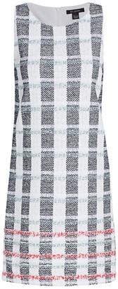 St. John Striped Tweed Shift Dress