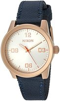 Nixon Women's 'G.I.' Quartz Stainless Steel and Nylon Automatic Watch, Color:Blue (Model: A9642160-00)