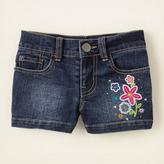 Children's Place Sequin embroidered denim shorts - plus
