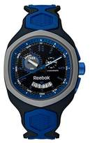 Reebok Hexablade Chrono Men's Date Watch Blue and Shark Gray RF-SHB-U6-PNIN-NL