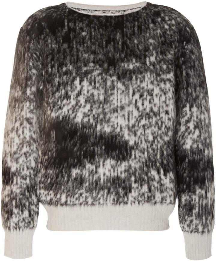 Rochas Intarsia Wool and Angora-Blend Sweater