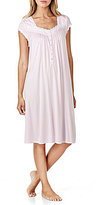 Eileen West Lace-Trimmed Waltz Nightgown