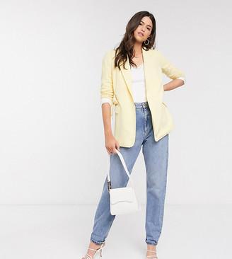 Vero Moda exclusive tailored blazer with belted waist in light yellow