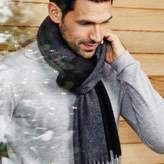 The White Company Men's Wool-Cashmere Reversible Scarf