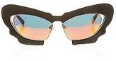 Prabal Gurung Linda Farrow Projects The x Linda Farrow Butterfly Sunglasses in Black