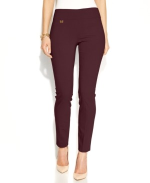 Alfani Tummy-Control Pull-On Skinny Pants, Regular, Short, and Long Lengths, Created for Macy's