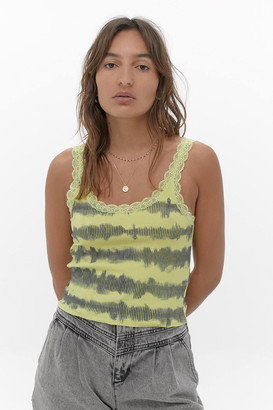 Urban Outfitters Tie-Dye Ribbed Tank Top