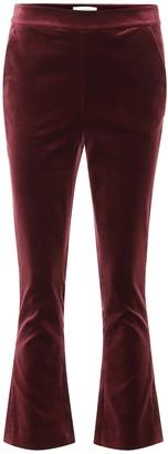 Frame Slit cropped velvet pants