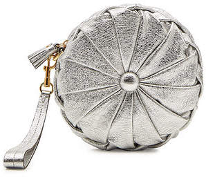 Anya Hindmarch Pillow Clutch in Metallic Leather