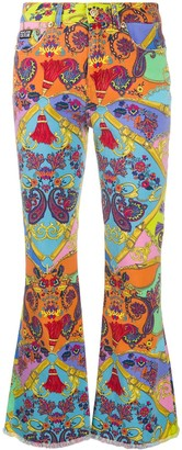 Versace Chain Print Trousers