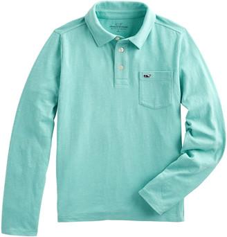 Vineyard Vines Boys' Slub Knit Long-Sleeve Polo