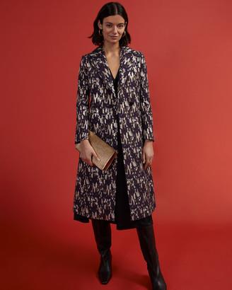 Jigsaw Jacquard Evening Coat