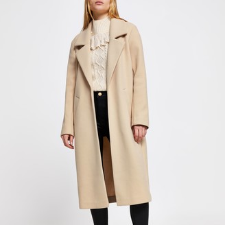 River Island Womens Brown long line relaxed coat