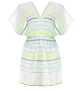 Lemlem Lelaga Aqua Stripes Tunic Dress