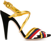 Gucci Sylvie metallic sandals - women - Leather/Nappa Leather - 35