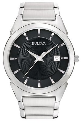 Bulova Men's Dress Silver Stainless-Steel Quartz Watch 96B149